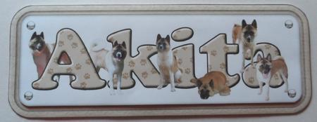Akita Name Sign in Card Gallery