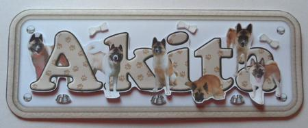 Latest Upload - Akita Name Sign 3D Decoupage