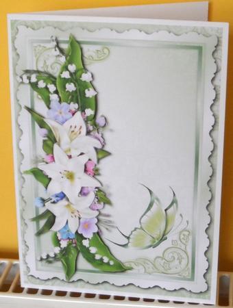Lilies & Butterfly Blank Topper + Decoupage in Card Gallery