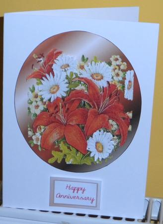 Lilies and Daisies in Card Gallery