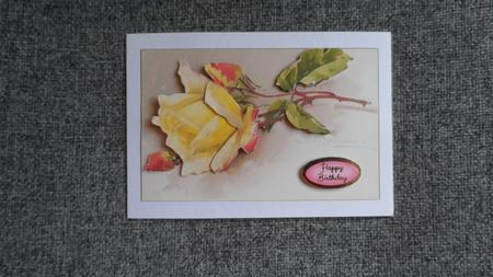 White Lilies & Yellow Rose Duodecoupage in Card Gallery