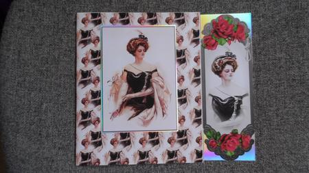 4 Vintage Floral Toppers / Bookmarks in Card Gallery