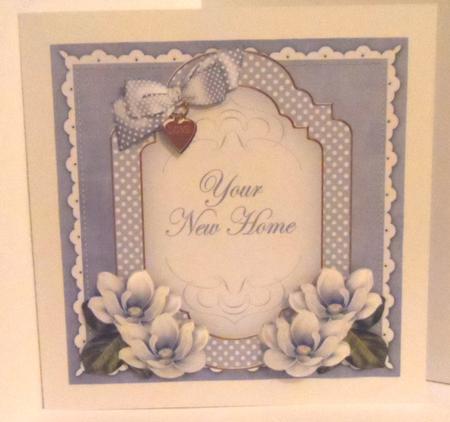 Blue Magnolia New Home Fancy 7in Decoupage Topper in Card Gallery