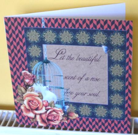 Chevron Roses & Dove Decoupage Card Making Mini Kit in Card Gallery