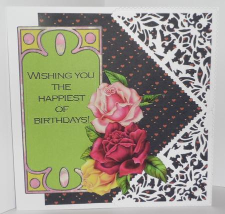 Nouveau Roses Decoupage Card Making Mini Kit in Card Gallery