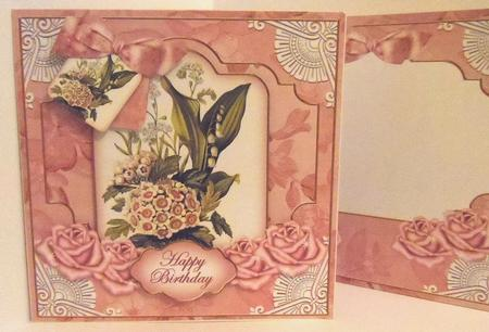 Pink Bouquet2 Happy Birthday Special 8in Tag N' Envelope Kit in Card Gallery