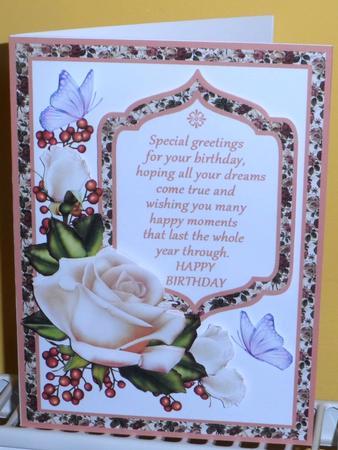 Roseberry Birthday Decoupage in Card Gallery