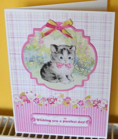 Kitten in the Garden Topper & Decoupage in Card Gallery