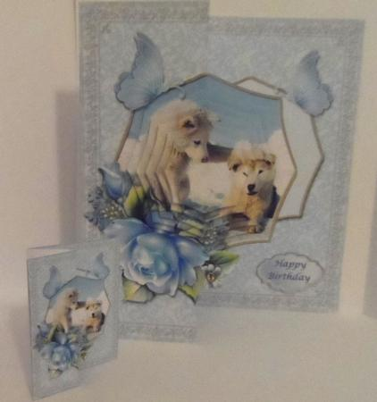 Arctic Wolf Cubs in Card Gallery