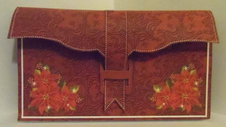 Red Poinsettia 3D File Purse Mini Kit in Card Gallery