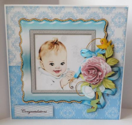 Mini Kit New Baby Boy Adorable - in Card Gallery