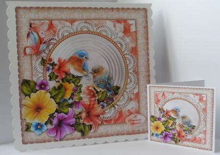 Among the Petunias in Card Gallery