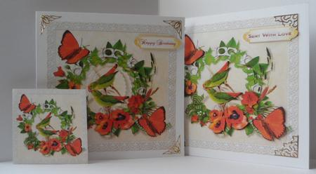 Parakeets & Poppies in Card Gallery