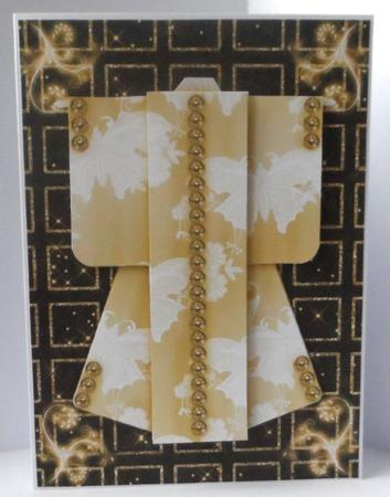 Sparkling Night Kimono Card in Gold Mini Kit in Card Gallery