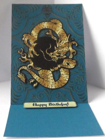Shaped Golden Dragon Longevity Decoupage Mini Kit in Card Gallery