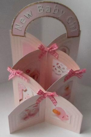 Arched New Baby Girl Embellishments Set in Card Gallery