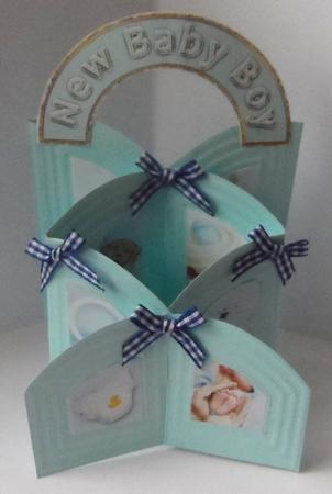 Arched New Baby Boy Embellishments Set in Card Gallery