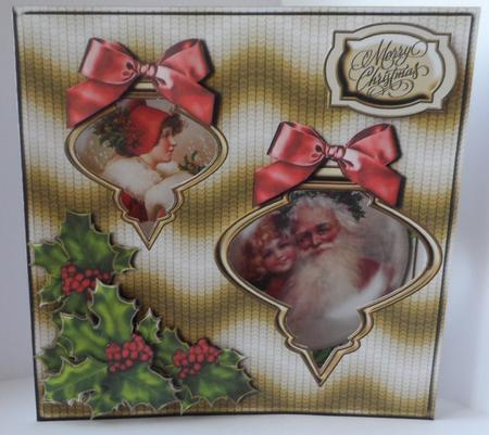 Vintage Cutout Baubles Card Kit in Card Gallery