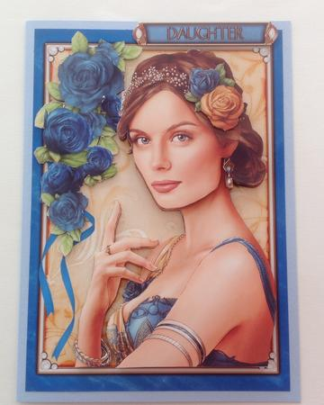 Card Gallery - Art Deco Lady Athena Dark Blue 4 Sheet Mini Kit