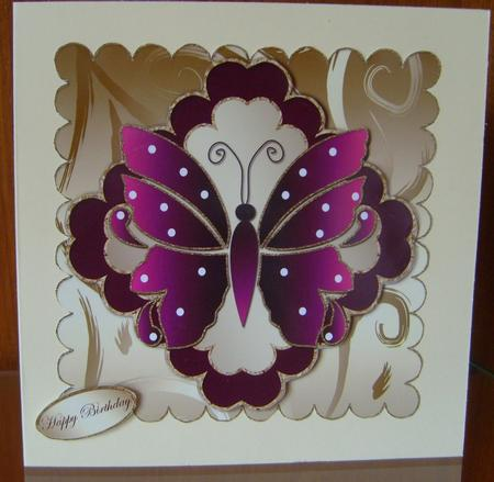 Birthday Butterfly Multi-scalloped Layers Topper 1 in Card Gallery