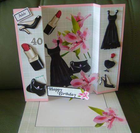 Double Fold Lilly Card in Card Gallery