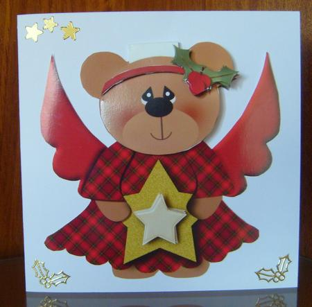 Christmas Angel Teddy Flip-up Card in Card Gallery