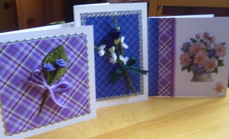 Lilac Tartan Paper Kit in Card Gallery