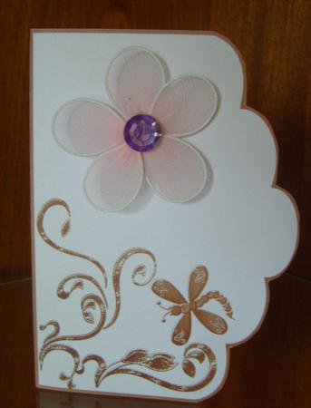 Scalloped Edge Cut and Fold Card Base - Beige in Card Gallery