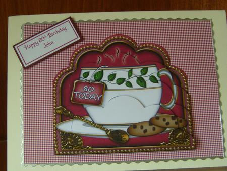 Plum Ivy Leaf 80 Today Cup Scallop Bottom Stacker in Card Gallery