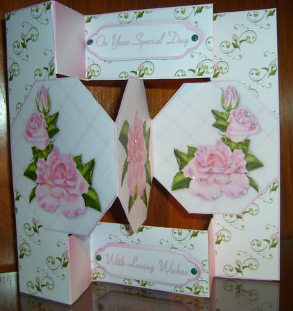 Summer Roses - Tri-fold Quick Card in Card Gallery