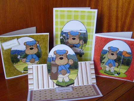 4 Bear Golf Toppers Set 2 in Card Gallery
