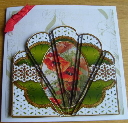 Poppies Em Anglaise Scallop Deco Stacker in Card Gallery
