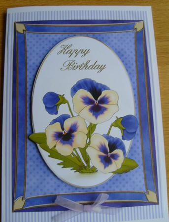 A4 Pansy - Birthday in Card Gallery