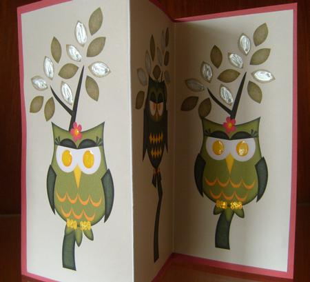 Its a Birds Life Owls Tri Fold in Card Gallery