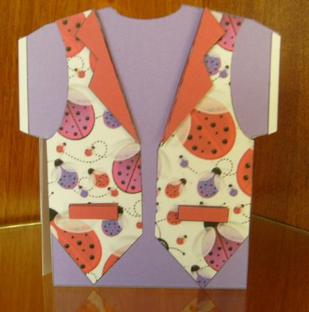 Lots of Ladybirds Waistcoat Shaped Card in Card Gallery