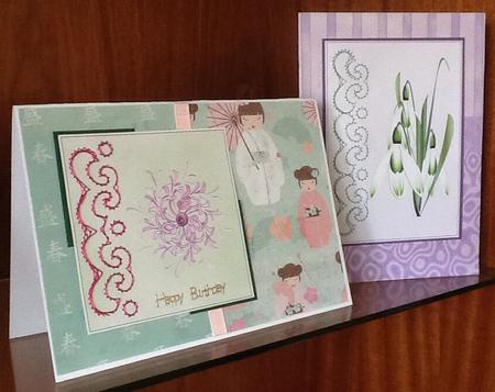Snowdrops and Honeysuckle in Card Gallery