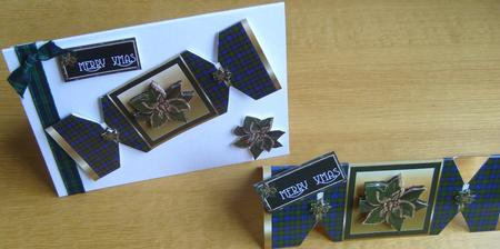 Card Gallery - Black Watch Tartan Xmas Cracker