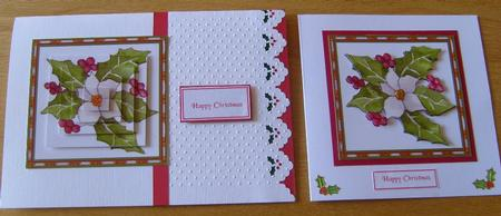 Card Gallery - Christmas Rose and Holly pyramid sheet