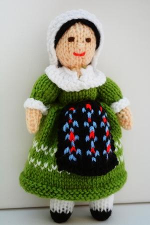 Doll Knitting Pattern - French Folk Doll - Photo by Joanna Marshall