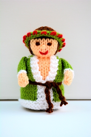 Ghost of Christmas Present Doll Knitting Pattern - CUP750804_1712 Craftsuprint