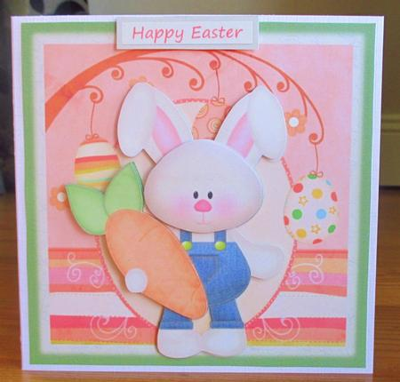 Easter bunny card front photo by johanna lambert for Call the easter bunny phone number
