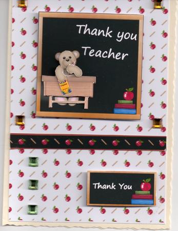 Card Gallery - Thank You Teacher topper and tag