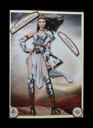 Card Gallery - Gina Warrior Princess (White)