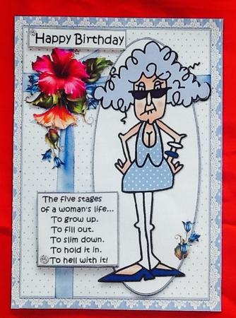 Card Gallery - Stella and the stages of woman quick card