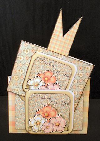 Card criss cross pocket thinking of you floral cup322870 for Cross in my pocket craft