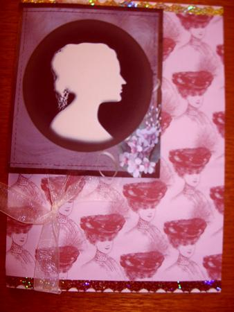 Card Gallery - Lady in Hat - Sepia