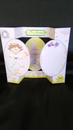 Card Gallery - Fairytale Princess Birthday Tri-Shutter Quick Card 2