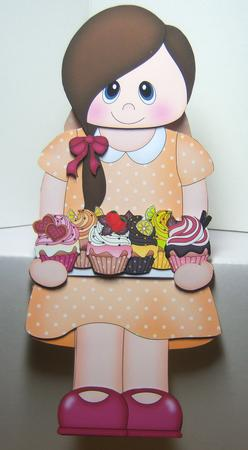 Card Gallery - 3D On the Shelf Card Kit - Little Cupcake Teen Cally