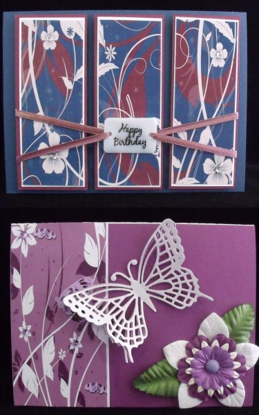 Floral Swirls Paper Set in Card Gallery