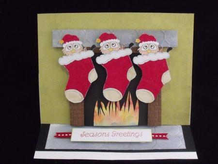 Christmas Owl Digital Stamp 4 in Card Gallery